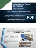 Tema 1 Naturaleza de Los Materiales y Tema 2 Metales Ferrosos