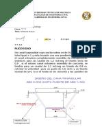 Imforme de Hidraulica