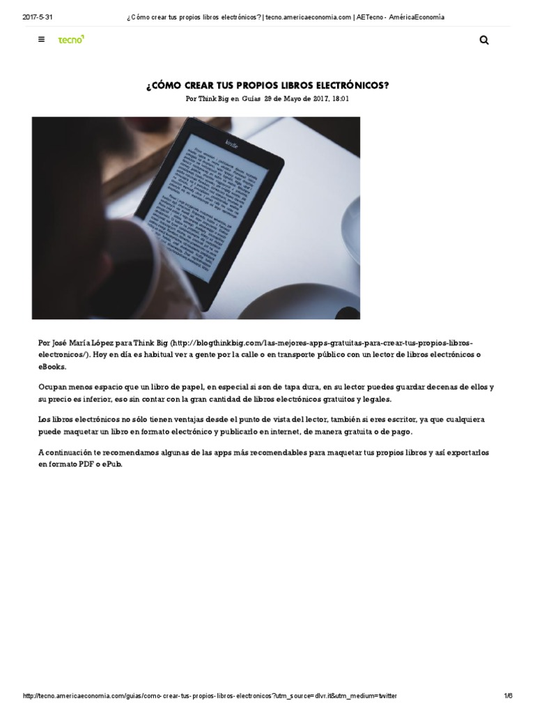 Cómo Crear Tus Propios Libros Electrónicos_ _ Tecno.americaeconomia
