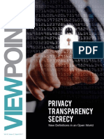 Privacy Transparency Secrecy - The PRactice April 2017 issue