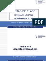 Conferencia Nº4 Drenaje Urbano Dr Sanchez