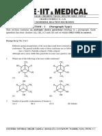 A - 2 (Isomerism, Reaction Mechantism) - Question Paper