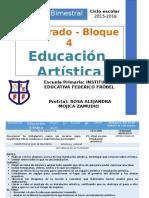 Plan 5to Grado - Bloque 4 Educación Artística
