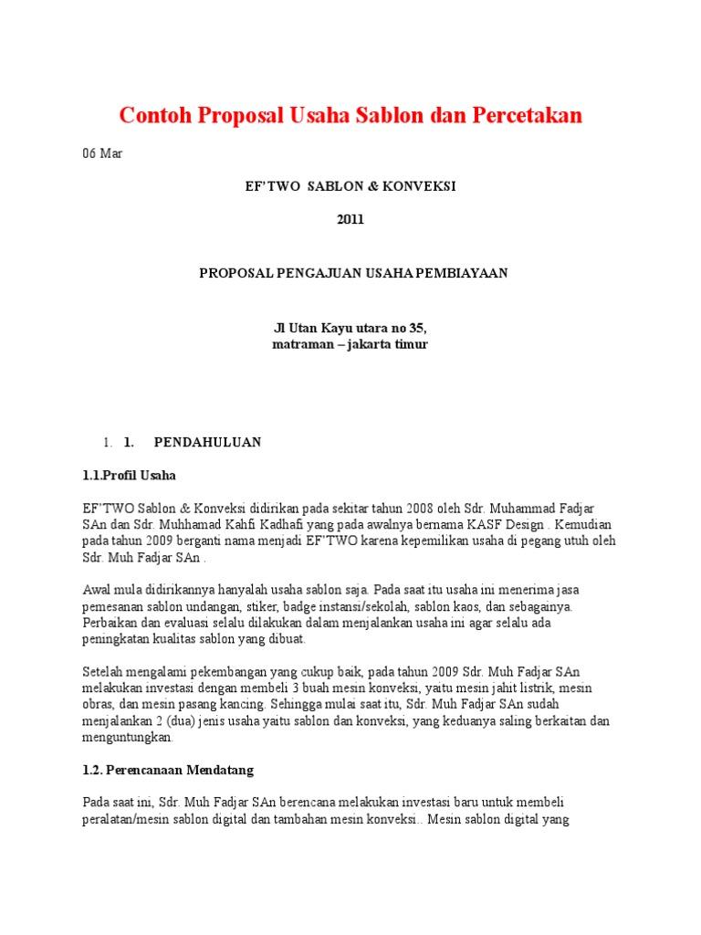 125125781 Contoh Proposal Usaha Sablon Dan Percetakan Docx