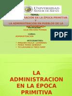La Administracion Epoca Primitva