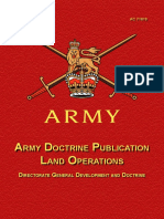 Army Doctrine Publication - Land Operations