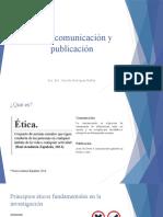 Ética, Comunicación y Publicación