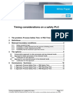Timing Consideration on a Safety PLC