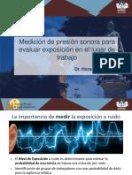 Medicion de La Presion Sonora ( Ruido )2016