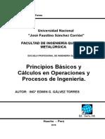 Cálculos en Operaciones y Procesos Ingenieria Quimica 2016