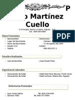 Curriculum Pablo Martinez Cuello