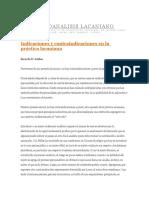 Indicaciones y Contraindicaciones en La Practica Lacaniana