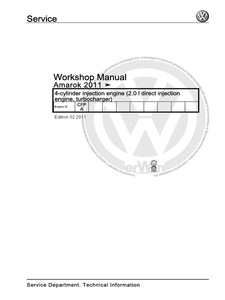 Volkswagen  Manual De Taller Volkswagen Amarok 2011 Pdf