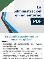 Administración Clase 05 La Administración y El Entorno Global
