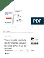 9 secrete ale trezitului de dimineață- activăm metabolismul în 30 de minute! - Perfect Ask