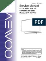 Daewoo Sp200n Chassis Dpn4274nhs Plasma Tv Sm