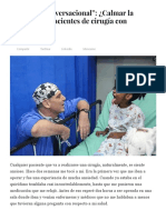 """""""Hipnosis Conversacional__ ¿Calmar La Ansiedad en Pacientes de Cirugía Con Palabras_ - Psyciencia"""