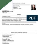 Curriculo de Thatiany Melo Rodrigues Da Cruz. Criado Em 23-04-17 as ET2HX Minha Pagina Inicial