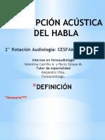 Ppt 2 Percepción Acústica Del Habla