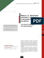 2. Modelos de Investigación Cualitativa y Cuantitativa y Su Aplicación en El Estudio Del Derecho