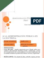 1.1 Administración Pública en El Perú