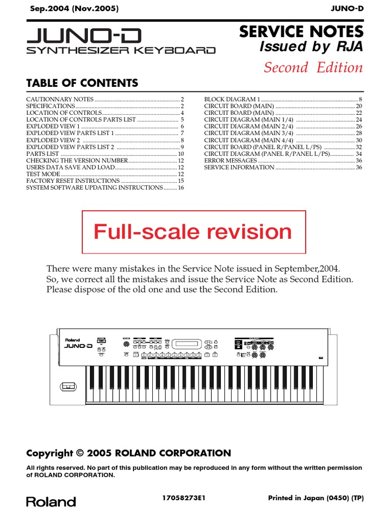 roland juno d service manual synthesizer computer hardware