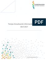 Informe Tiempo Actualización SITR Abril 2017