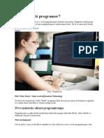 Kako Postati Programer