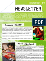 Newsletter Summer 2010