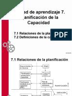 Unidad de Aprendizaje 7. Planificación de Capacidad.