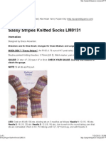 Sassy Stripes Knitted Socks..