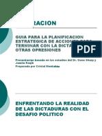 GUIA PARA LA PLANIFICACION ESTRATEGICA DE ACCIONES PARA TERMINAR CON LA DICTADURA Y OTRAS OPRESIONES (2010).pptx