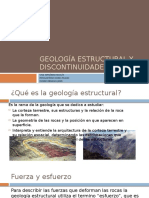 Geología Estructural y Discontinuidades