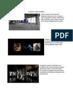 examples of video instillation