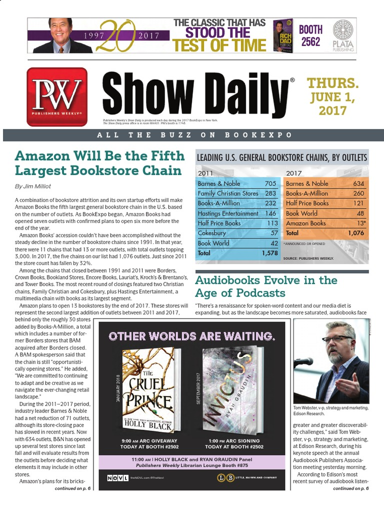 Bookexpo show daily june 1 2017 audiobook amazon fandeluxe Choice Image