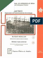 Vol. 14 Opoeración de Subestacione de Energía Bloque Modular 2 Módulo Instruccional 14