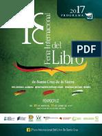 Agenda Feria Del Libro Santa Cruz