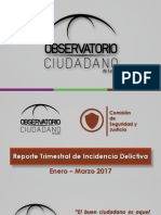 Reporte Trimestral de Incidencia delictiva Ene-Mar 2017 OCL
