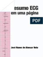 Resumo ECG Em Um Página - Alencar Neto - 1 Ed. (2016) - Pt