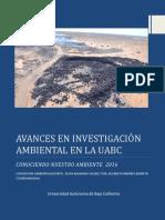 Avances en Investigacion Ambiental en La UABC-2016