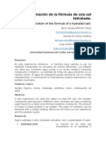 Informe Determinacion de La Formula de Una Sal Hidratada.