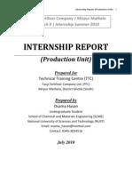 Internship Report at Fauji Fertilizer Company