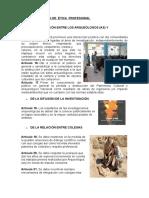 NORMAS PARA LA ETICA DEL ARQUEOLOGO CON LA COMUNIDAD Y ENTRE COLEGAS