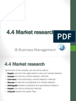 4.4 Market Research