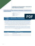 Perfil Competencia Operador de Procesamiento y Envasado de Otros Productos Apicolas