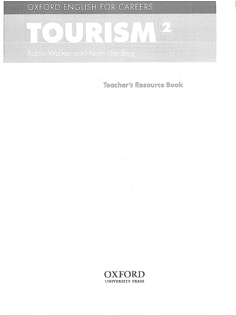 Oxford English For Careers Tourism 2 Teacher Resource Book Learning