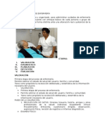 Proceso Atencion de Enfermería