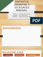 Contratos, Garantías y Sociedades Mineras