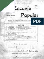 La Escuela Popular, Nro 1, Año 1, 1 de Octubre 1912, Buenos Aires.pdf