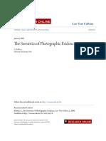 The Semiotics of Photographic Evidence